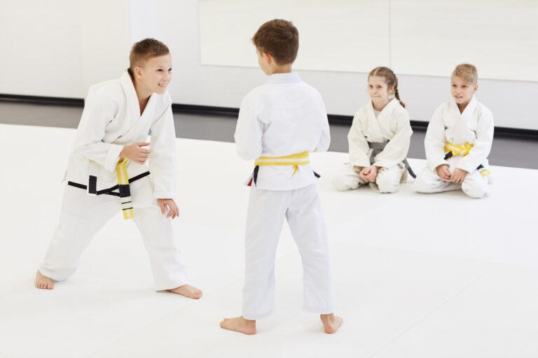 Children practicing the technique